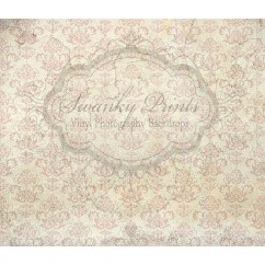 Cream Rose Damask